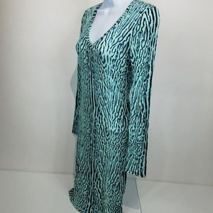 BCBG MaxAzria Tori gift Dress XXS Aqua jersey long
